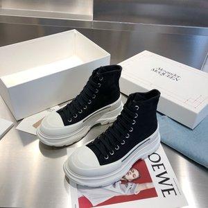 2020 tasarımcı Erkekler DİŞ SLICK yüksek üst bağcıklı ayakkabı erkek ve kadın platform ayakkabı fashionDesigner küçük beyaz shoesStar rahat ayakkabı