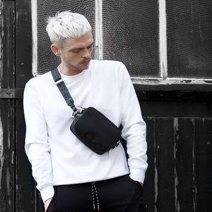 homem bolsa de cintura fannypack mulheres saco Mini peito Bag fanny designer de pacote pequenos sacos faixa preta de alta qualidade