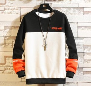 Long Sleeve Multi Color Panelled Sweatshirts Male Clothing Mens Designer Crew Neck Hoodies Letter Print Hooded Pullovers