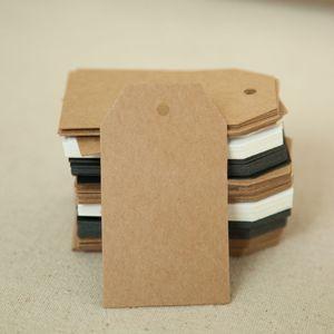 500pcs 7 * 4cm leeres Geschenk-Paket hängt Tags frei DIY Verschiffen handgemachte Paketpreis Karte Tags Backen neueste braun-Tags