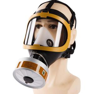 De alta calidad de la cara llena de polvo en el gas máscara del respirador tóxico gas de filtrado para la fumigación con pesticidas Pintura Trabajo filtro Máscara de polvo Reemplazar
