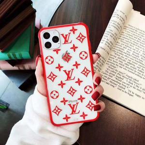 를위한 럭셔리 디자이너 전화 케이스 아이폰 X XR XS 최대 TPU + PC 3D 인쇄 투명 전화 커버 아이폰 7 8 플러스 A05