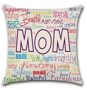 Kissenbezüge Mutter Tages Kissenbezüge Brief Werfen gedruckt Pillowcase Platz Sofa Nap Kissenüberzüge Hauptdekoration 18 Designs XH2492