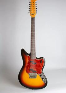 Custom Shop 12 Strings Cherry Sunburst ST Precision Jaguar JazzMaster электрогитара двойной замок Тремоло мост, Красная черепаха Pickugard