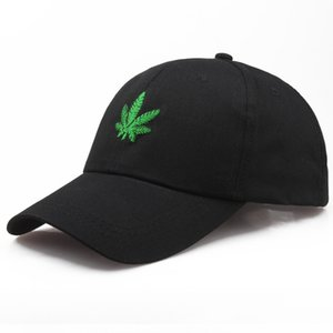 2019 New Fashion Embroidery Maple Leaf White Cap Cotton Swag Snapback Hats for Men Women Hip Hop Fitted Baseball Caps Present
