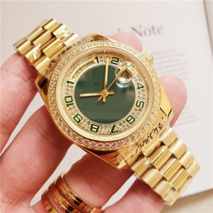 Luxusmode-UHREN Top-Qualität 18k Gelbgold Diamond Dial Lünette 18038 Uhr-automatische Männer Uhr-Armbanduhr