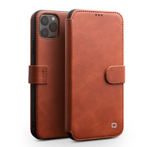 Mode véritable Flip Housse en cuir pour iPhone11Pro max main magnétique carte boucle fente cas de téléphone