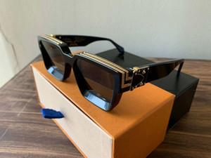 2019 Luxury MILLIONAIRE Sunglasses M96006WN full frame di design Occhiali da sole dell'annata per gli uomini Shiny logo dell'oro caldo di vendita placcato oro Top 9600