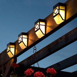 Retro Wall Light 2 LED solaire lumières barrière étanche LED lampe facile d'installation à usage domestique Cour extérieure lumières Décor