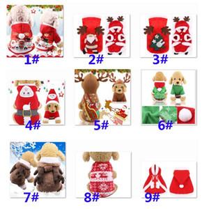 Pet Dog Vêtements de Noël Vêtements Robe de Noël Manteaux Pour Animaux Hoodies Holiday Party Vêtements Décoration Chats Vêtements Puppy Noël HH9-2521