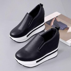 New increased solid color ladies white low shoes simple wild non-slip wear-resistant muffin low to help casual shoes