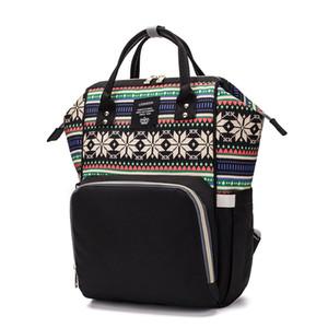 LEQUEEN bolsa de pañales Multi-funcional de la madre mamá bolsa de pañales mochila impermeable Travle cochecito de gran capacidad bebé mojado bolsas