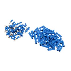100pcs Wärmeschrumpf Draht Connector Kit Marine-Automotive-Terminal Blau