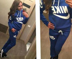 New Women active set tracksuits Hoodies Sweatshirt +Pant Running Sport Track suit 2 Pieces jogging sets survetement femme clothing