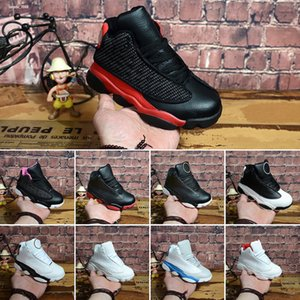 New 13s Kids Basketball Shoes Children Outdoor Sports Gym Red Chicago DMP Black Pink Boys Girls 13 Athletic Sneakers Size 28-35