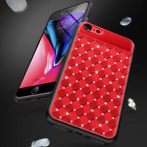 Glitter Bling Diamond tisse la trousse TPU + PC Phone Cases pour iphone X Xs max 6 6S 7 8 Plus Cover