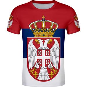 SERBIA male t shirt diy free custom made name number srbija SRB t-shirt srpski nation flag serbien college print logo clothes