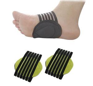 Hot Beauty Salud correcta Pie plano la ayuda de arco Plantillas ortopédicas hombres de las mujeres La mitad plantillas del zapato Pies Accesorios para el cuidado del cojín Zapatos