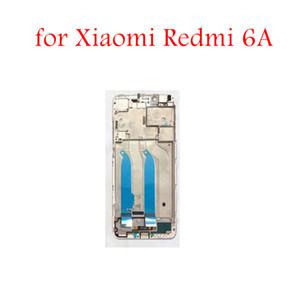 para Xiaomi Redmi 6A Placa de marco medio Bezel Placa frontal Bisel Pantalla LCD de soporte frontal Redmi 6A Repuestos