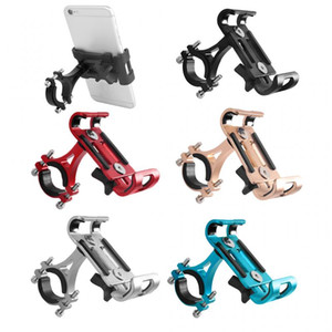 New Aluminum Motorcycle Bike Bicycle Cell Phone Holder Mount Handlebar Universal Foldable Phone Stand Holders For Smartphones