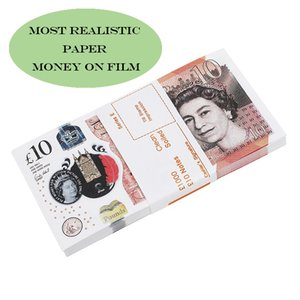 Mais realista fingir Reino Unido dinheiro dinheiro cópia nota dinheiro 100 pcs / pacote