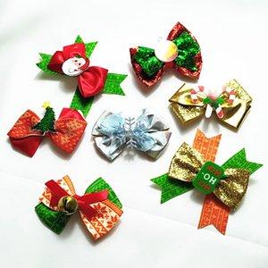 아기 여자 헤어 클립 (14 개) 디자인 크리스마스 테마 장식 조각 헤어 활 어린 소녀 벨 눈 만화 산타 클로스 모자 아기 클립 06