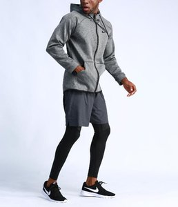 2019new outdoor running jacket men's basketball training casual sportswear long-sleeved hooded quick-drying fitness jacket Men's Clothingd'