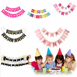 Festa de aniversário Bunting Bandeira Bandeiras Garland bebê Wedding Shower Hanging Decor