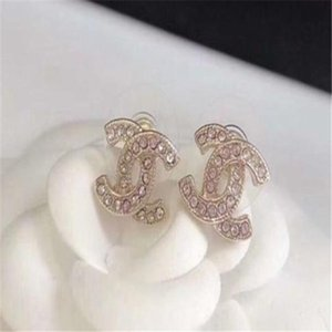 2020 G Luxus-Designer-Schmuck Frauen Ohrringe Perlen Strass Entwerferschmucksachen für Abend prom zeigen Ohrringe hohe Qualität A052