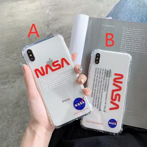 NASA US rua tendência do espaço do astronauta Soft-off tampa de silicone para iphone 11 pro max 6 S 7 6S 7plus 8 8plus X XR XS branco caixa do telefone Max