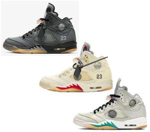 2020 Nouveau 5 Blanc Noir Gris crème 3M Chaussures de basket-ball hommes Reflective 5 s sport Chaussures de sport ETUI