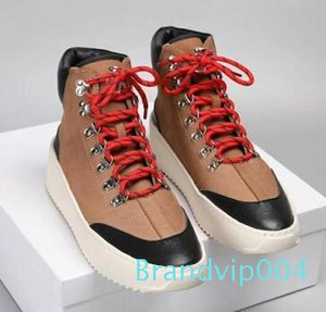 2019 Best FOG Quality Fear of God Top Military Sneakers Hight Army Boots Men and Women Fashion Shoes Martin Boots c7