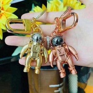 marque voiture design de mode porte-clés en alliage de haute qualité créative astronaute dames clés de la mode de la chaîne sac pendentif, boîte correspondant