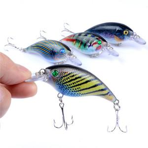 4 Colors Crank Fishing Lures Artificial Hard Baits Wobblers Crankbaits Painting Series Pesca Minnow Fishing Bait 7.5cm 10.5g