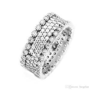 Rings Compatible with Pandora Jewelry Lavish Sparkle Silver Ring For Women original 100% 925 Sterling Silver jewelry Ring wholesale