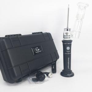 Портативный G9 Henail Plus Dab Oil Rig Воск Pen Carb Cap Стекло водопроводная труба Бонг Dab Nail G9 H enail Plus Комплекты