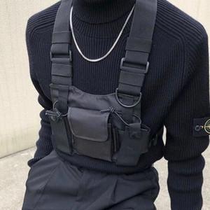 Chaleco táctico Chaleco de nylon aparejo en el pecho Paquete Bolsa Moda Hip Hop Arnés walkie talkie radio Paquete de cintura para radio bidireccional