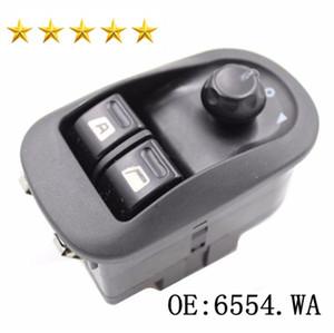 Schwarz Electric Power Fenster Switch Master Button Control Windows-Spiegel-Schalter 6554.WA 6554WA für Peugeot 206 2002-2016 Auto-Fenster-Schalter