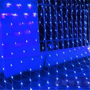 LED Net luzes, luzes de fadas com 8 Modos Controller para férias, Festa, Parede exterior, casamento Detalhes