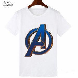 Womens Polyester Marvel Movie Print Harajuku Tshirt Movie Avengers Print 0 Collar Short Sleeve Shirt Womens Street Clothing Shirt