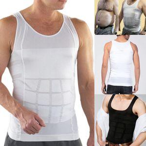 Homens emagrecimento colete body shaper emagrecimento camisa trainer cintura cheia shapewear espartilhos colete shaper tummy underwear