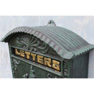 2568/6899 Avrupa Stili Posta Kutusu Retro Duvar Gazetesi Mektup Postası Kutusu Demir El Sanatları Kilitlenebilir Posta Kutusu Açık Güvenli Posta Kutusu Diğer Bahçe