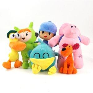6pcs lot 12-26cm Pocoyo Plush Pocoyo Elly Pato Loula Doll Pocoyo Dog Duck Elephant Soft Stufffed Animal Doll Toy Party Supplies Y200703
