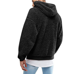 Plush Fleece Winter Mens Hoodies Trendy Style Mens Printed Long Sleeve Tops Casual Males Hooded Clothing