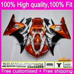 Injection Body For YAMAHA YZF R6 YZF 600 CC R 6 2003 2004 2005 81HM.23 YZF-600 YZF600 YZF-R6 03-05 YZFR6 03 04 05 OEM Fairing Orange black