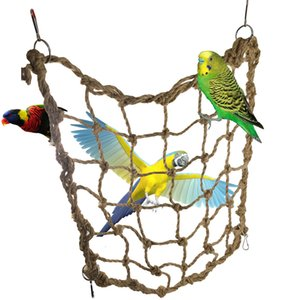 Parrot Hemp Rope Tuba To Climb Network Parrot Bird Toys Hemp Rope Network 123g