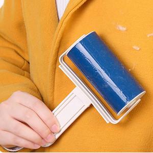 휴대용 스티커 씻을 린트 롤러 소파 시트 애완 동물 머리 옷 수집가 청소기 먼지 포수 리무버 먼지 스티커 롤러 DH0789