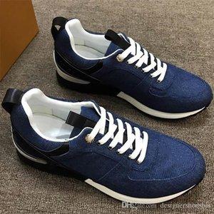Moda para hombre de los zapatos de cuero de lujo de velocidad Formadores respirables de goma lienzo zapatilla de deporte popular de la tela escocesa del Athletic de calidad superior zapatillas de deporte de la plataforma L16