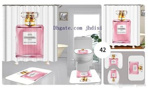 Белый простой флакон духов занавес Современная Европа и Америка в Vogue Туалет Set Покрытие ванной Ковер душевого занавес