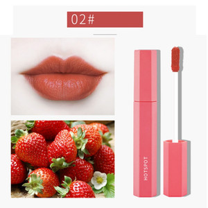 5pcs Fruit Extract Lip Gloss Wasserdicht Antihaft-Cup Lip Glaze Matte Lippenstift-Verfassungs-Set